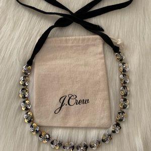 J. Crew Sequin Daisy Necklace